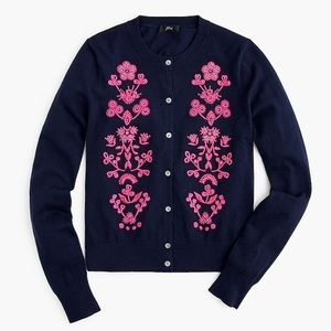 NWT cardigan sweater in floral embroidery